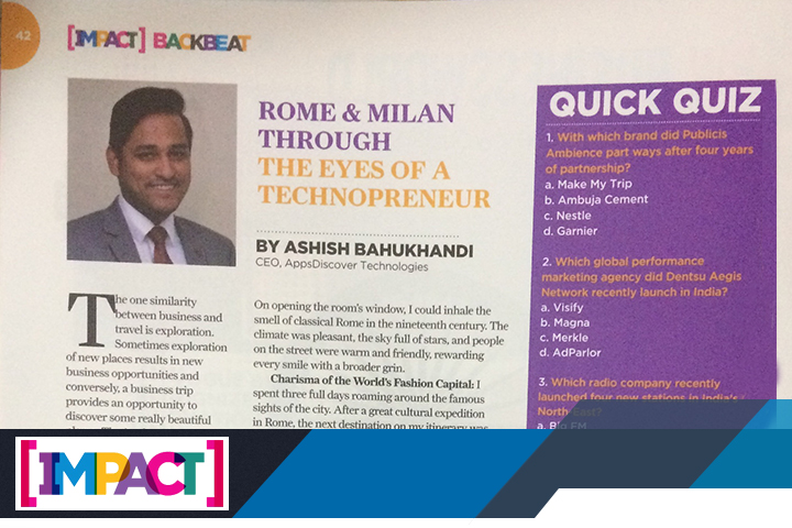 Impact – Rome & Milan Through the Eyes of a Technopreneur