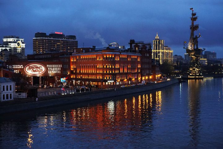 NIght View Moscow Russia @TheIndianTourist