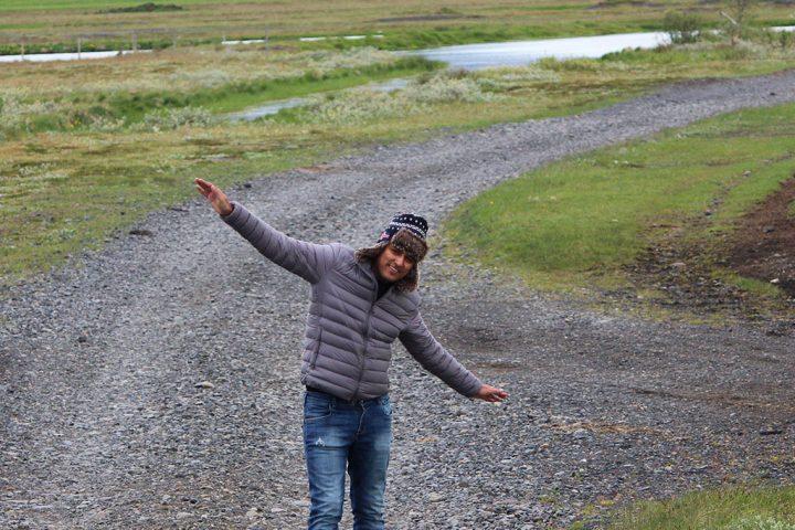 Way to Skogafoss, Iceland